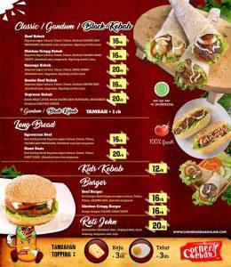 franchise kebab corner menu